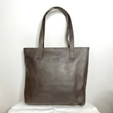 Genuine Leather Tote Bag | Dark Brown Textured | Handmade in Kenya