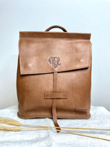 Leather Backpack Mini - Light Brown | Genuine Leather | Women's | Handmade in Kenya