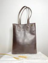 "Genuine Leather Satchel/Laptop Bag/Briefcase for Women | Dark Brown | 12""x15"" | Handmade in Kenya"