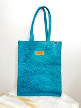 "Genuine Leather Satchel/Laptop Bag/Briefcase for Women | Teal Textured | 12""x15"" | Handmade in Kenya"