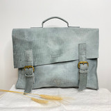 Briefcase/Laptop/Attache Bag - Blue Grey | Unisex | Genuine Leather | Handmade in Kenya