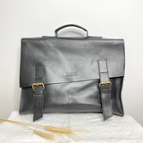 Briefcase/Laptop/Attache Bag - Licorice | Unisex | Genuine Leather | Handmade in Kenya