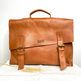 Briefcase/Laptop/Attache Bag - Caramel | Unisex | Genuine Leather | Handmade in Kenya