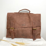 Briefcase/Laptop/Attache Bag - Red Brown | Unisex | Genuine Leather | Handmade in Kenya
