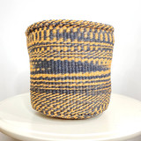 Kiondo Basket - Caramel & Black Zebra Pattern | 8"
