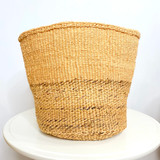 Kiondo Basket -  Two Tone Natural Peach & Banana Stem | 10"