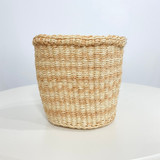 Kiondo Basket - Natural with Pink Stripe | 5"