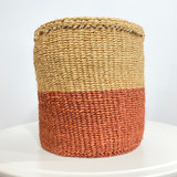Kiondo Basket - Two Tone Merlot Brown & Natural Brown | 8'' | Storage, Decor