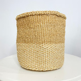 Kiondo Basket - Natural Brown With Stripe White | 8"