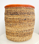 Kiondo Basket - Banana Stem | Leather Trim | 12"