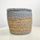 Kiondo Basket - Grey With Natural Pattern | 6"