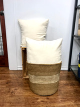 Throw/Sofa Pillows | 18 x18 | Cream | Handmade in Zimbabwe