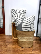 Throw/Sofa Pillows | 18 x18 | Grey Shell Pattern | Handmade in Zimbabwe