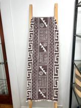 "Table Runner/Hanger | 58"" | Taupe Geometric Designs | Handmade in Zimbabwe"