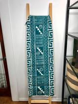 "Table Runner/Hanger | 58"" | Teal Geometric Designs | Handmade in Zimbabwe"