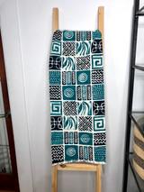 "Table Runner/Hanger | 58"" | Teal/Navy Blue Squares | Handmade in Zimbabwe"