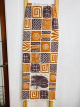 "Table Runner/Hanger | 58"" | Brown & Orange | Elephant | Geometric Designs | Handmade in Zimbabwe"