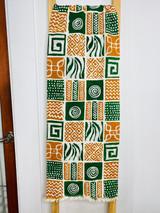 "Table Runner/Hanger | 58"" | Orange & Green | Geometric Designs | Handmade in Zimbabwe"
