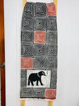 "Table Runner/Hanger | 58"" | Red & Black Elephant | Geometric Designs | Handmade in Zimbabwe"