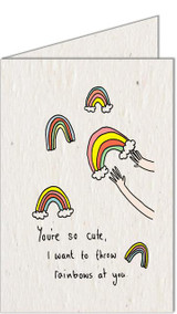 Rainbows | Recycled Paper Plantable Greeting Card | Handmade in South Africa