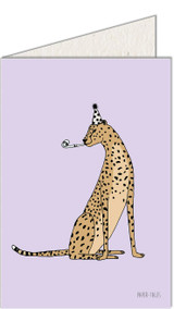 Birthday Leopard | Recycled Paper Plantable Greeting Card | Handmade in South Africa