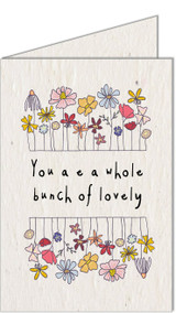 Bunch of Lovely | Recycled Paper Plantable Greeting Card | Handmade in South Africa