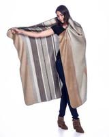 Alpaca Blanket | Vintage Pearl | Handmade in Ecuador