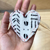 Mud Cloth | Stuffed | Souvenir Heart | Handmade in Vancouver
