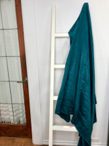 Alpaca Blanket | Teal | Handmade in Ecuador