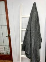 Alpaca Blanket | Grey | Handmade in Ecuador