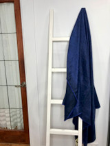 Alpaca Blanket | Indigo Blue | Handmade in Ecuador