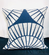Pillows | 30 x 30 | Dark Blue Shell Pattern | Handmade in Zimbabwe