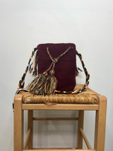Mochila Wayuu Bag | Medium | Burgundy | Handmade in Columbia