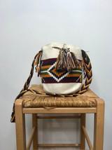 Mochila Wayuu Bag | Medium | Square White | Handmade in Columbia