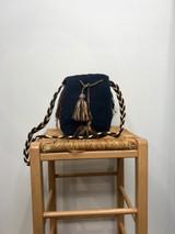 Mochila Wayuu Bag | Medium | Navy Blue | Handmade in Columbia