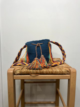 Mochila Wayuu Bag | Mini | Steel Blue | Handmade in Columbia