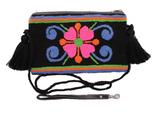 Wayuu Clutch/Small Bag | Neon Flower | Handmade in Columbia