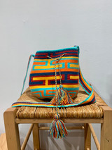 Mochila Wayuu Bag | Medium | Bright Vibes | Handmade in Columbia