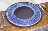 Beaded Wall Art | Blue | Placemat |