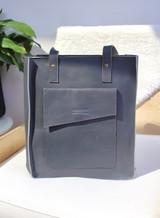 "Genuine Leather Satchel/Laptop Bag/Briefcase with Front Pocket | Grey | 12""x15"" | Handmade in Kenya"