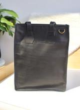 "Genuine Leather Satchel/Laptop Bag/Briefcase for Women | Black | 12""x15"" | Handmade in Kenya"