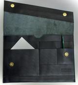 "Leather Folio | Laptop Sleeve 13"" | Black | Handmade in Kenya"