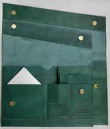 "Leather Folio | Laptop Sleeve 15"" | Forest Green | Handmade in Kenya"