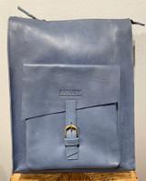 Leather Convertable Backpack Tote   Blue   Genuine Leather   Unisex   Handmade in Kenya