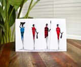 Greeting Card | 4 Masai | Masai Blanket