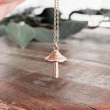 Gold Charm Necklace - Mushroom   Beth & Olivia   Handmade in Canada