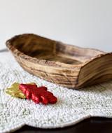Rustic Live Edge Small Plate | Square | Jacaranda Wood | Handcrafted in Kenya