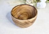 Smooth Edge Bowl | Round | Jacaranda Wood | Handcrafted in Kenya