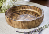 Smooth Edge Dinner Plate | Round | Jacaranda Wood | Handcrafted in Kenya