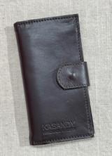 Womens Wallet | Genuine Leather - Dark Chocolate | Handmade in Kenya